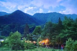 奥飛騨の夕景