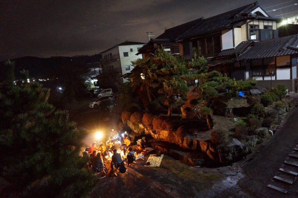 奈良県 吉野 ゲストハウス大淀 たき火