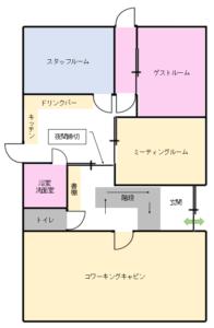 兵庫県丹波市 iso乃家 1F間取り図